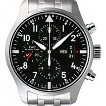 IWC Pilot's Watch Chronograph Black Dial Stainless Steel 43mm