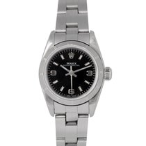 Rolex Oyster Perpetual Ladies Black Dial, Ref: 67230