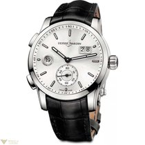 Ulysse Nardin Dual Time Manufacture Stainless Steel Silver...