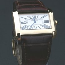 Cartier Tank Divan XL Herrennuhr 18ct. Gold TOP ZUSTAND