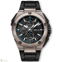 IWC Ingenieur Double Chronograph Titanium Black Dial Men`s Watch