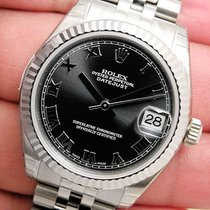 Rolex Datejust 178274 Midsize Steel & White Gold Jubilee...