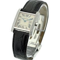 Cartier WE101751 Tank Francaise Mid-size with Diamond Bezel -...