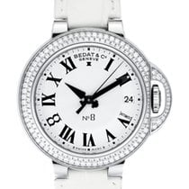 Bedat & Co No. 8 Stainless Steel Diamond Bezel Ladies Watch