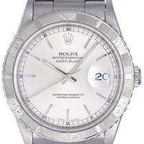 Rolex Turnograph Men's Steel Watch 16264 Silver Dial