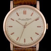 IWC 18k Rose Gold Silver Dial Manual Wind Vintage Gents