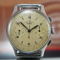 Wyler Vetta Oversize Chronograph Steel Valjoux 22 Vintage