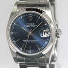 Rolex Datejust Stainless Steel Blue Dial Midsize Ladies Watch...