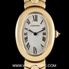 Cartier 18k Yellow Gold Silver Dial Baignoire Ladies Watch