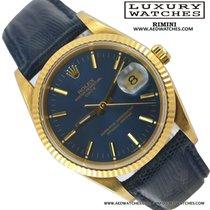 Rolex Date 15238 blue dial yellow gold Full Set 1991