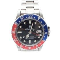 "Rolex SS Rolex GMT-Master ""Pepsi"" Bezel slow plastic"