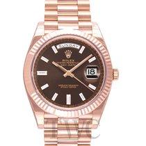勞力士 (Rolex) Day-Date 40 Chocolate/18k Rose Gold G 40mm - 228235