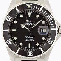 Grovana Automatic Diver BLACK Bezel NEW 2 Years Warranty Swiss...