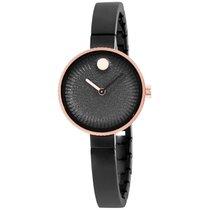Movado Edge Black Dial Black Bangle Bracelet Ladies Watch 3680025