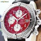 Breitling Chronomat Evolution 44mm Chrono Steel Mens Watch Red...