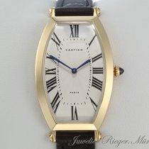 Cartier TONNEAU GELBGOLD 750 LEDERBAND
