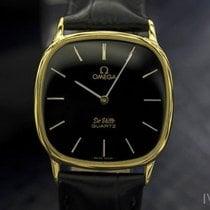 Omega Deville 1365 Mens Swiss Push Pin Quartz Gold-plated...