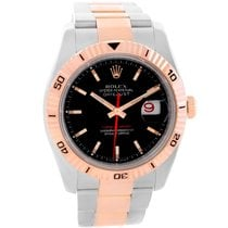 Rolex Thunderbird Turnograph Steel 18k Rose Gold Watch 116261