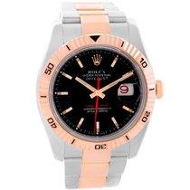 Rolex Datejust Turnograph Steel 18k Rose Gold Watch 116261