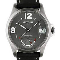 Glycine Incursore 46mm Power Reserve - Gray Face - Black...