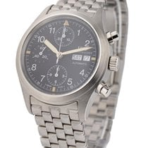 IWC 3706 Classic Pilots Automatic Chronograph in Steel - on...