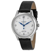 Montblanc Boheme Automatic Silver Dial Black Leather Ladies Watch