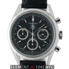 TAG Heuer Carrera Chronograph Sainless Steel 39mm Black Dial ...