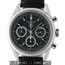 TAG Heuer Carrera Chronograph Stainless Steel 39mm Black Dial
