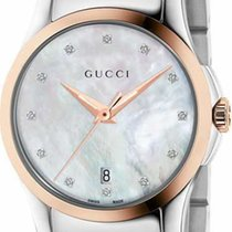 Gucci G-Timeless Small Quartz Mother Of Pearl Dial Steel-Rose...