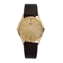 Seiko Gold Plated Quartz Mens Dress Watch 1980s Japan Made Siw114