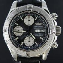 Breitling Superocean Chronograph Steel Black Dial 42MM Full...