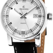 Chronoswiss Pacific Automatic Steel Mens Strap Watch Calendar...