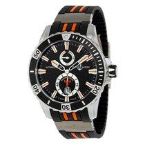 Ulysse Nardin Maxi Marine Diver Black Rubber Mens Watch...