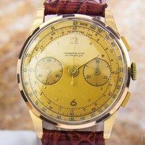 Chronographe Suisse Cie 1950s Solid 18K Rose Gold Men's...