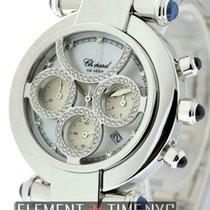 Chopard Imperiale Chronograph 18k White Gold Factory Diamonds