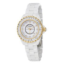 Stuhrling White Ceramic Quartz Watch 530S2.1113EP3