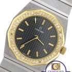 Concord Mariner SG Stainless Steel 18K Gold Diamond Black Quartz