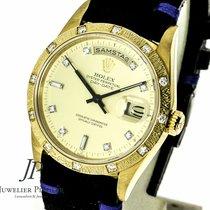Rolex Day Date 18 Gelbgold, Orig. Diamant Besatz Ref: 18308
