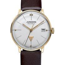 Junkers Bauhaus Lady Swiss Quartz Watch 35mm Gold Case 3atm...