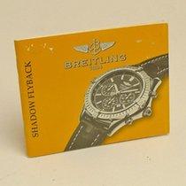 Breitling Shadow Eyeback Manual Info Booklet