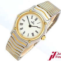 """Ebel """"Classic Wave"""" Lady Stahl/750 Gelbgold - guter..."""