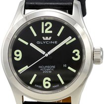 Glycine Incursore Automatic Steel Mens Strap Swiss Watch...