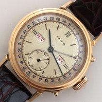 Movado 18K YG Triple Date Vintage Watch Ref 4788 Fine Origin