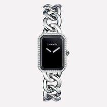 Chanel Première Chaîne Large Version, Steel & Diamonds,...