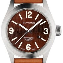Glycine Incursore 46mm Brown dial and brown strap