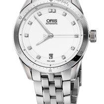 Oris Artix GT Date, Diamonds, White Dial, Steel Bracelet