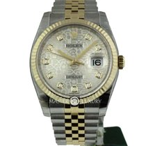 Rolex 116233 Datejust 36 SS/YG Silver Jubilee Diam Dial Jub Brac