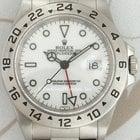 Rolex 16570 Explorer II, Steel, White Dial