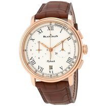 Blancpain Chronograph Flyback Pulsometre Whit Dial Men's...