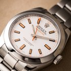 Rolex Milgaus Stainless Steel White Dial